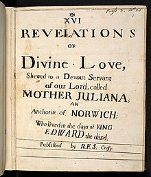 Archivo:220px-The front page of Revelations of Divine Love (c. 1675, Serenus de Cressey).jpg