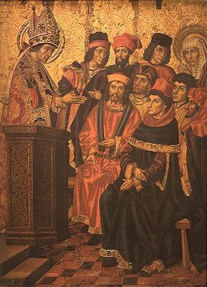 Nb pinacoteca huguet st augustine and st monica listening to st ambrose.jpg