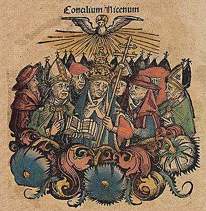 Council of Nicea - Nuremberg chronicles f 130v 3.jpg