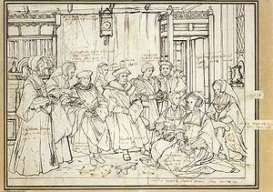 Nb pinacoteca holbein study for the family portrait of sir thomas more 1527 basle.jpg