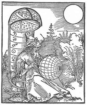 Durer - Astronomer. 1500. Woodcut. British Museum, London, UK.jpg