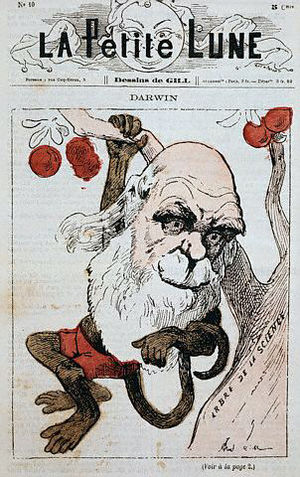 Darwin as monkey on La Petite Lune.jpg