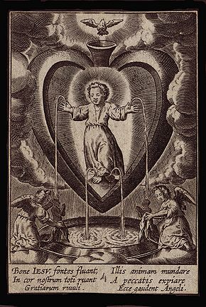 Antonius Wierix (ca. 1552–1604) from his series Cor Iesu amanti sacum - Bone Jesu, fontes fluant....jpg